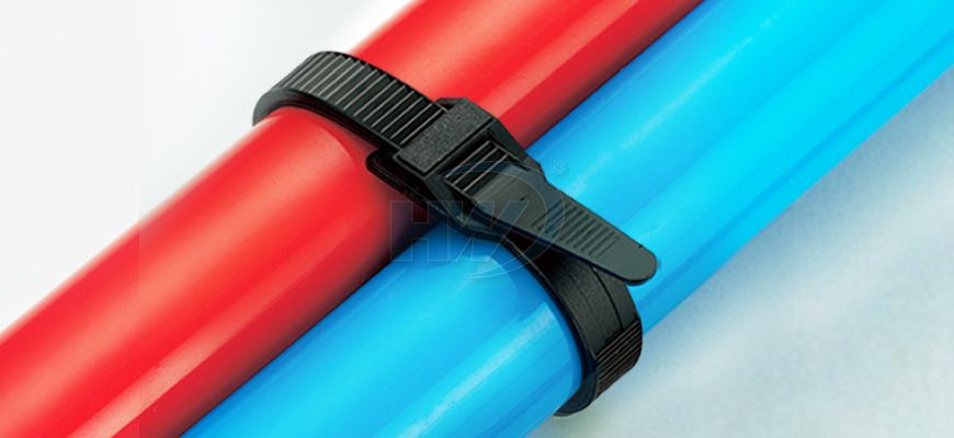 Cable Ties, Low Profile, PA12, 498mm, 8.9mm Manufacturer - HUA WEI