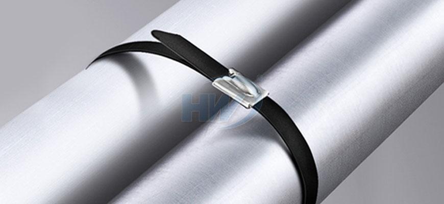 Edelstahl-Krawatten, Ball Lock-Typ, PA11 beschichtet, SS304 / SS316 ...