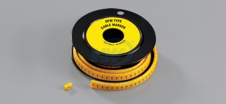 Cable Markers,Flat Type,Soft PVC, Suitable wire 14 ~ 8AWG, 5mm width - Flat Cable Markers