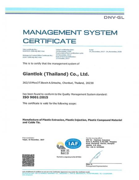 ISO9001-Thailand factory