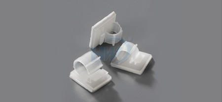 Cable Clamps,Self Adhesive,PPolyamide,12mm Max. Bundle Dia.