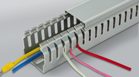 FW Type Wiring Duct - Easy Snap-In Design