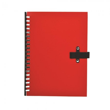 Notebook with Rivet Pen Holder