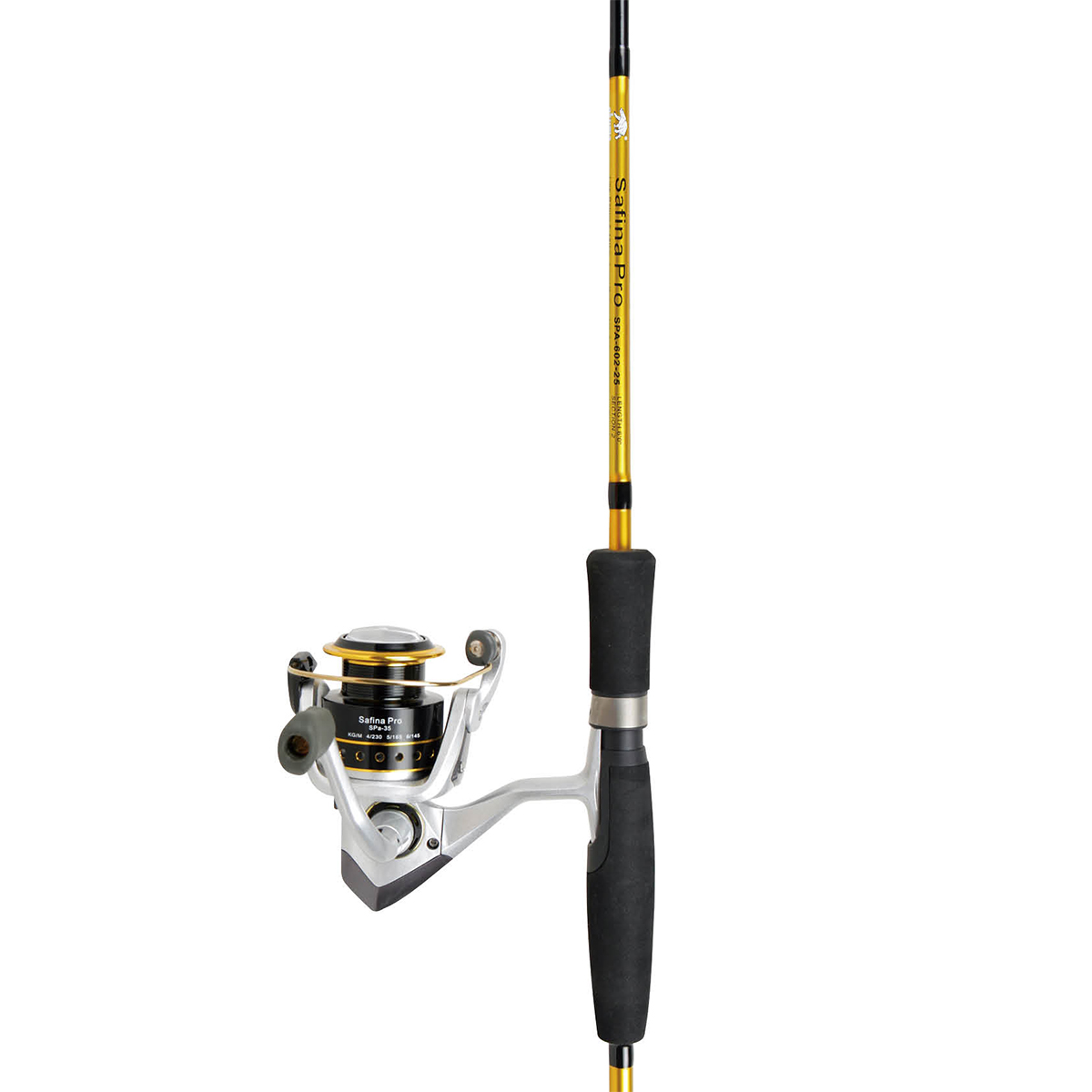 Fishing rods and reels safina pro spinning combos for Professional fishing gear
