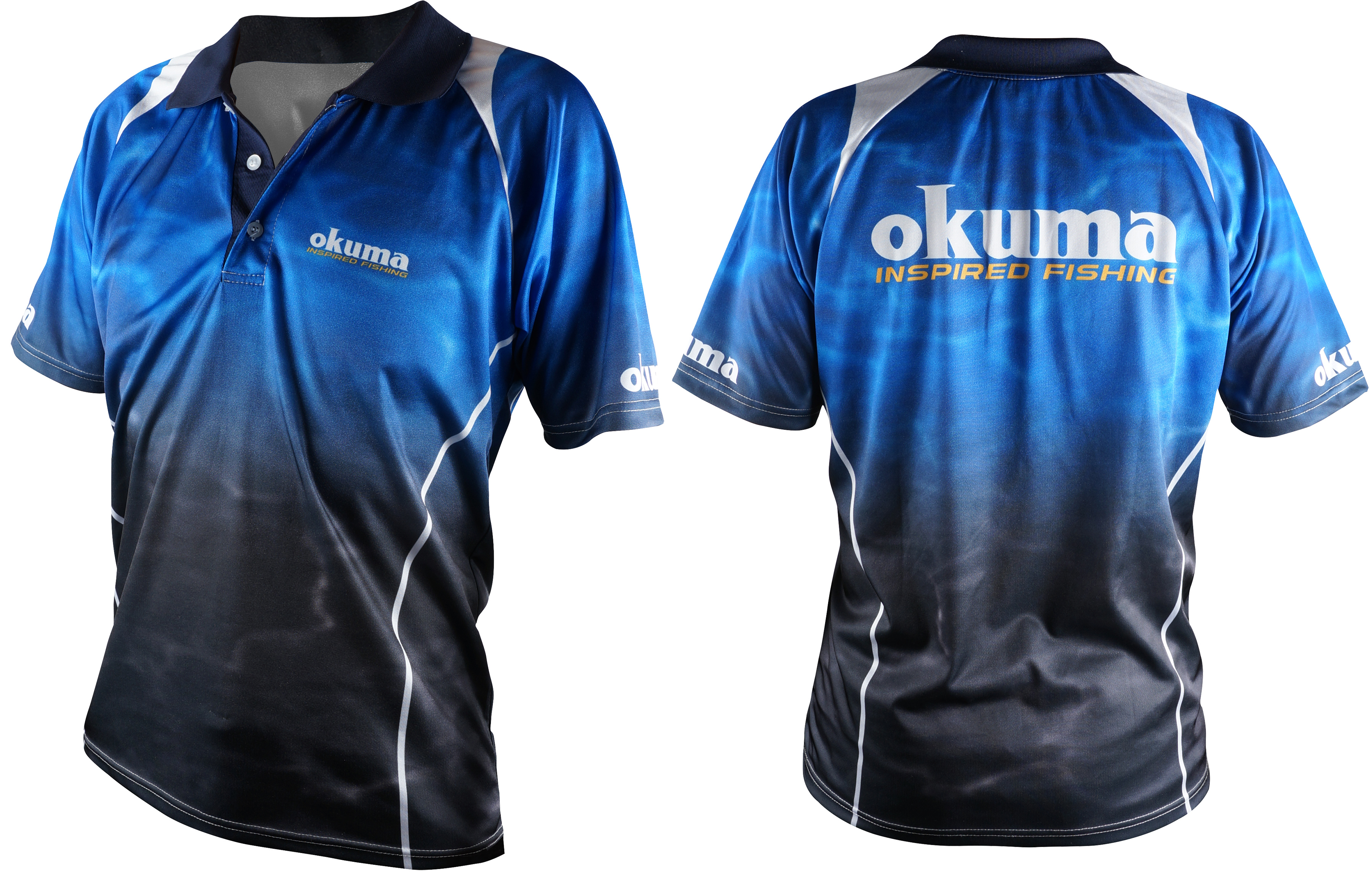 Kaos Okuma Blue Polo - Kaos Okuma Blue Polo