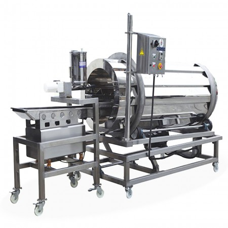Food Seasoning System - Vibration Powder Sprinkler + Rotary Seasoning Drum