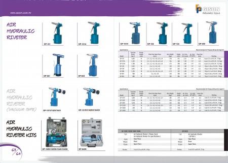 Rebitador hidráulico do ar de GISON , ar rebitador hidráulico (tipo do vácuo), jogos hidráulicos do rebitador do ar