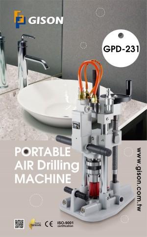 Máquina de Perfuração de Ar Portátil GPD-231 (inclui Base de Fixação por Sucção a Vácuo)