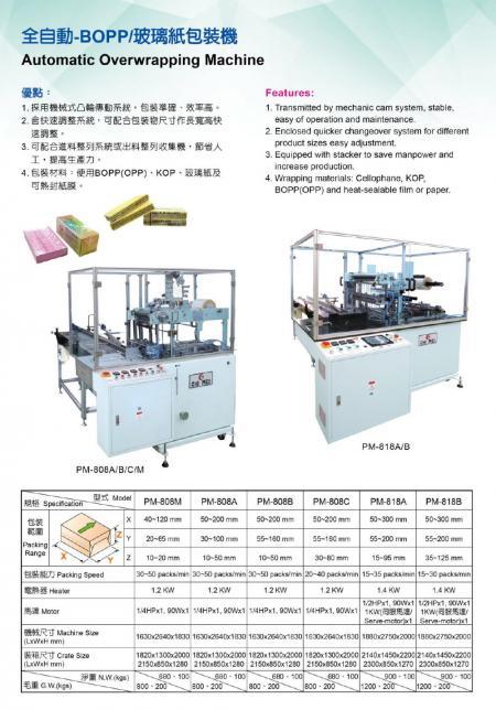 BOPP/玻璃紙包裝機 P03