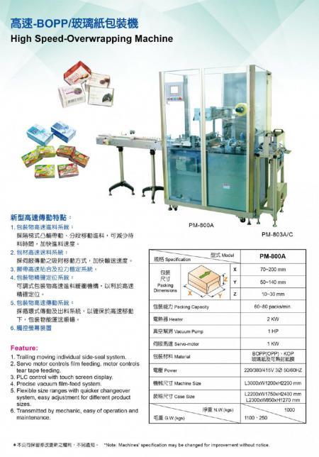 BOPP/玻璃紙包裝機 P04