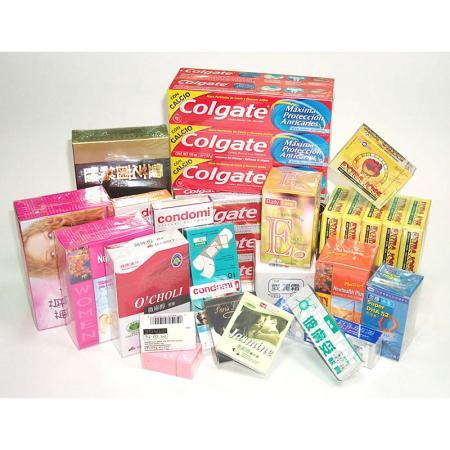 藥品、健康食品、保險套盒