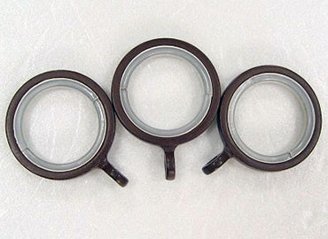 Zinc Curtain Ring with plastic linings