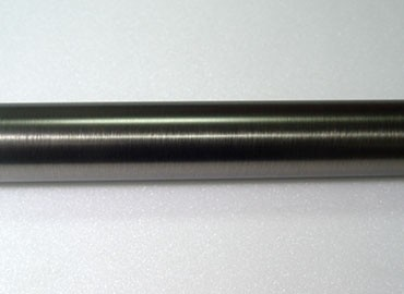 Metal Curtain Pole in Pewter Finish - This Pewter Curtain Pole is made of Iorn