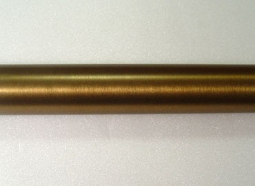 Warm Gold Metal Curtain Rod - Image of Coating Curtain Rod in Warm Gold