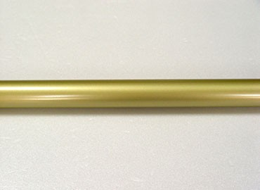 Coating Metal Curtain Rod in Gold - Image of Coating Curtain Rod in Gold