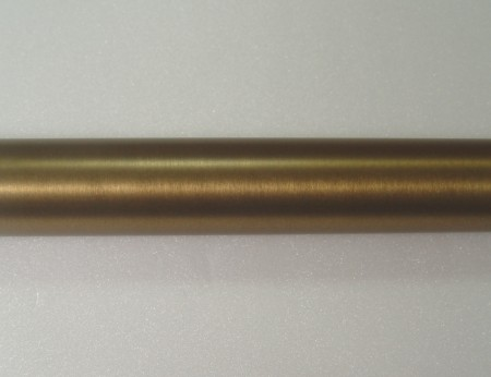 Warm Gold Metal Curtain Rod - coating_curtain_rod_in_warm_gold