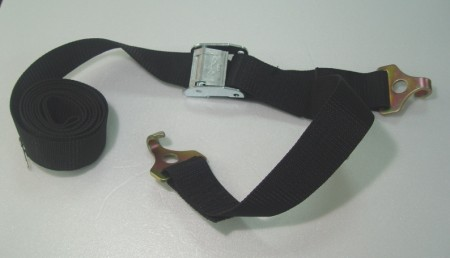 Cam Buckle Tie Down with Flat J-Hook