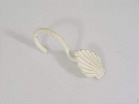 White Shell Curtain Hook