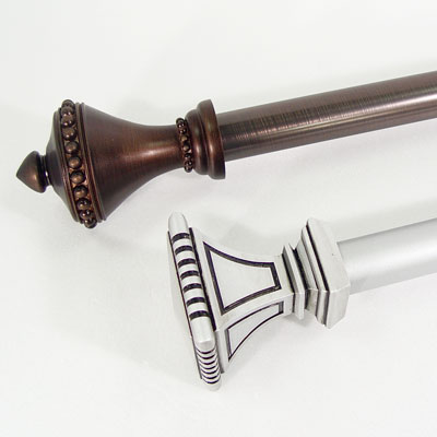 Curtain Rod with Resin Finial
