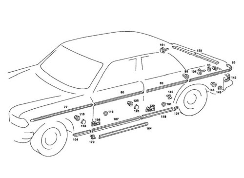 Body parts for classic Mercedes