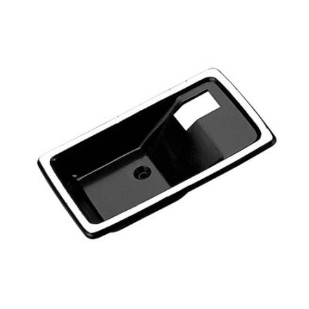 Replacement Interior Door Handle Case only, Left Smooth Black without Keyhole - Replacement Interior Door Handle Case only, Left Smooth Black without Keyhole