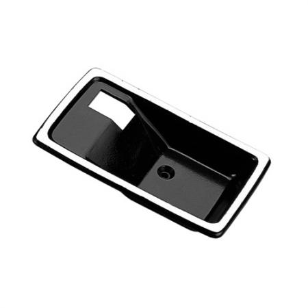 Replacement Interior Door Handle Case only, Right Smooth Black without Keyhole - Replacement Interior Door Handle Case only, Right Smooth Black without Keyhole