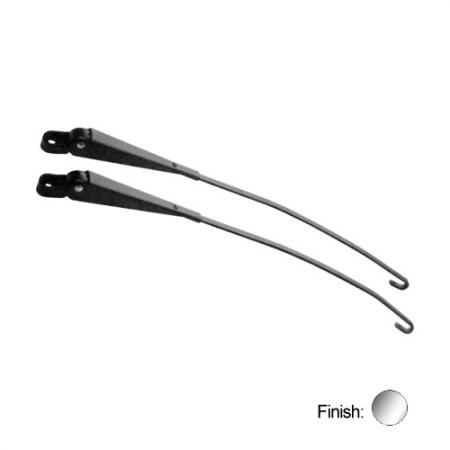Windshield Wiper Arm Pair Stainless Steel Right Straight
