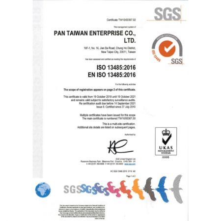 ISO13485 Certificate Issued by SGS