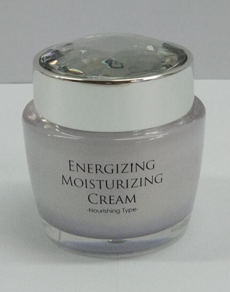 Acrylic Round Cream Jar, 50ml - ED-50-DD Diamond Forever