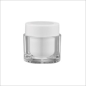 Acrylic Round Cream Jar, 50ml