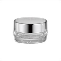 Acrylic Round Cream Jar, 15ml - HD-15 Metal Planet (Metallized Round Acrylic Cosmetic Packaging)