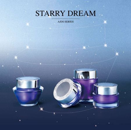 Round shape Acrylic Luxury Cosmetic & Skincare Packaging - Round Acrylic Cosmetic Packaging Collection - Starry Dream