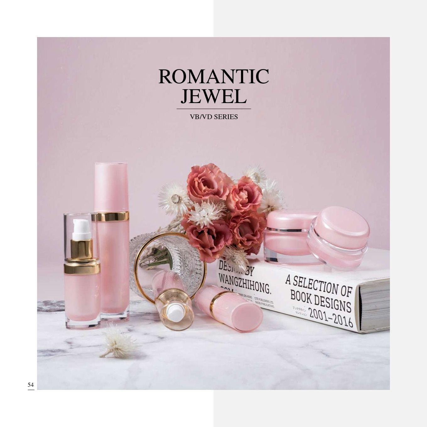 Round Shape Acrylic Luxury Cosmetic & Skincare Packaging - Cosmetic Packaging Collection - Romantic Jewel