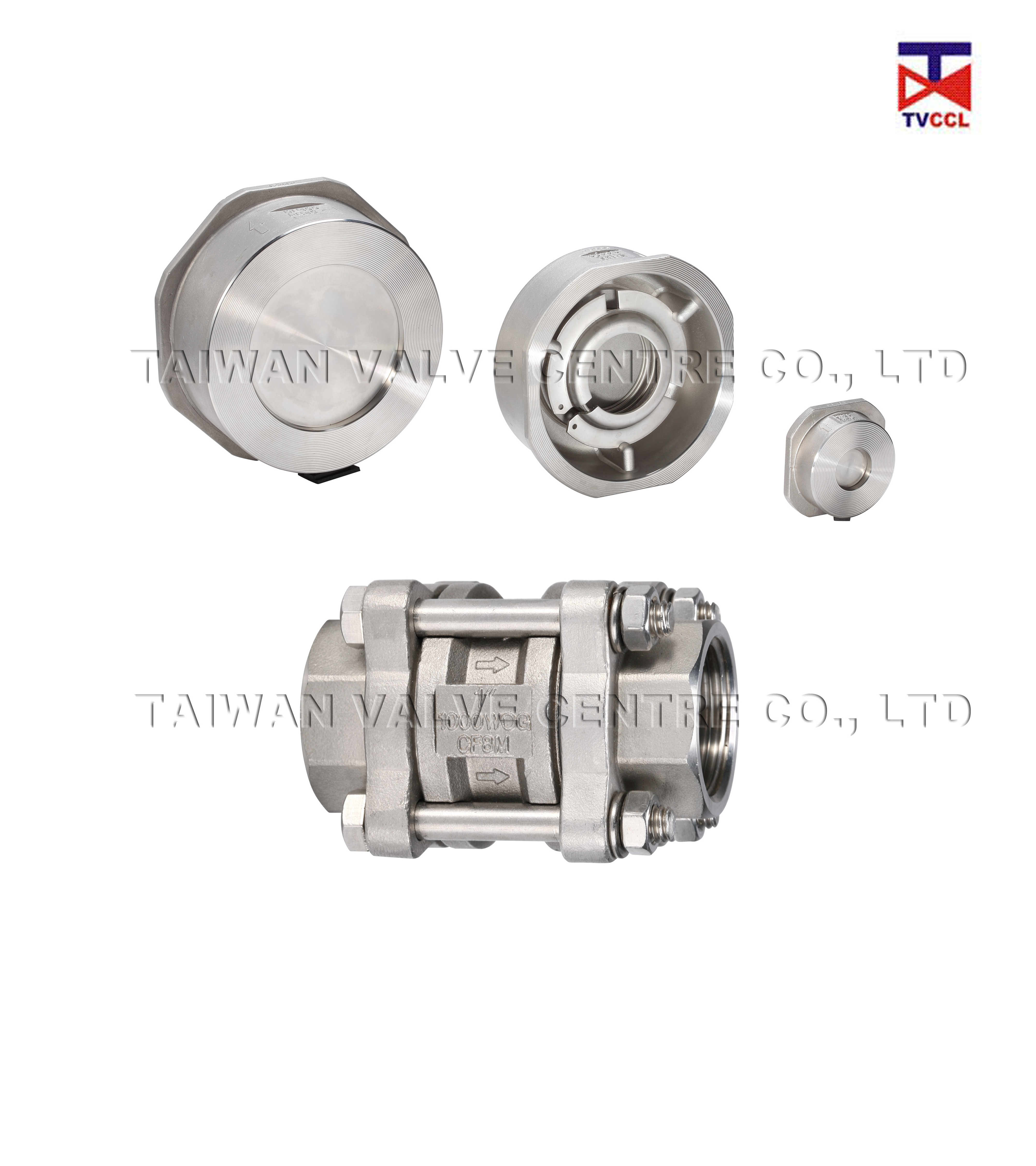 1PC & 3PCS Spring type Check Valve