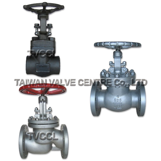 A globe valve used for regulating flow in a pipeline.