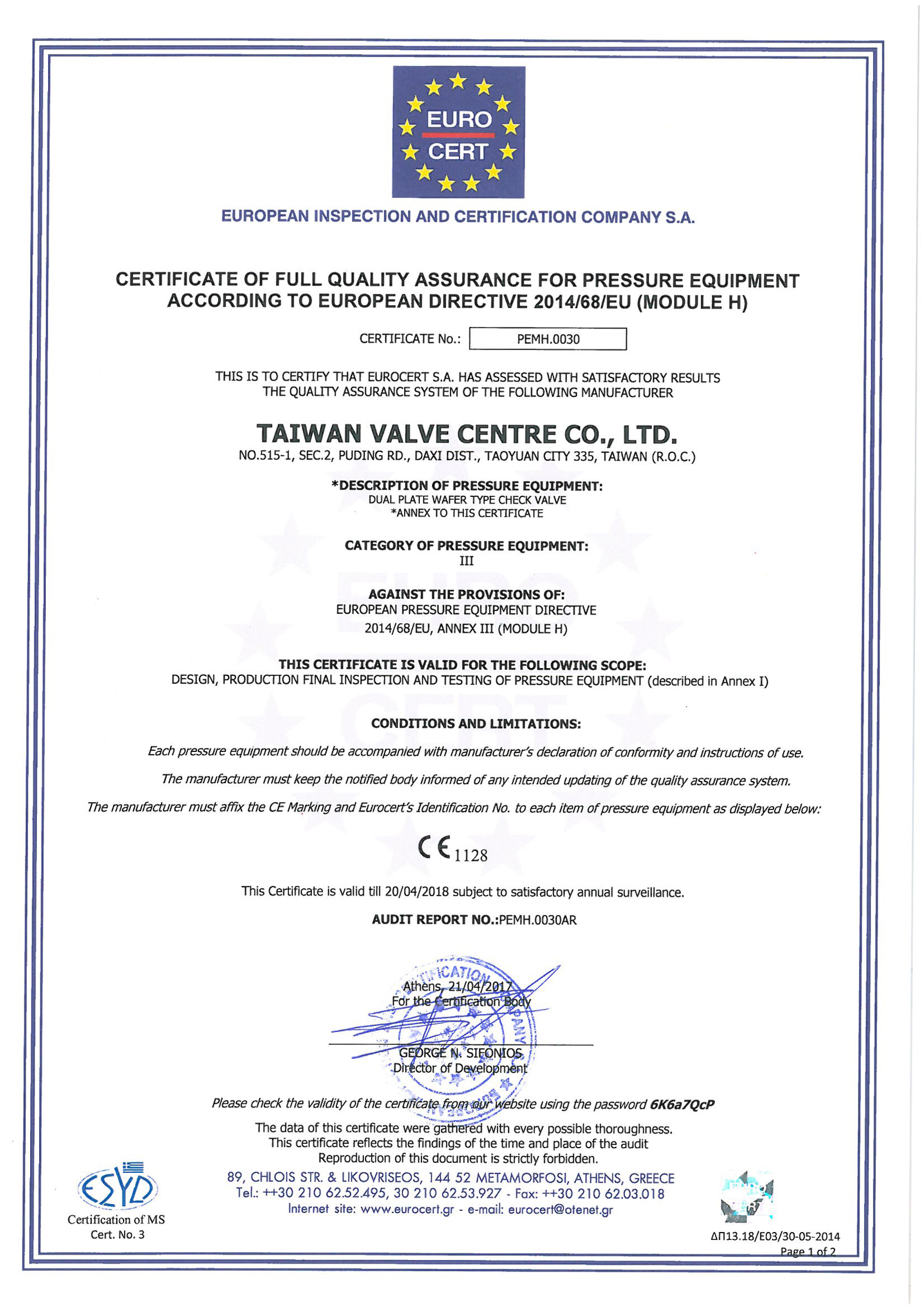 We got the ce certification tvccl taiwan valve news and ce certification 1betcityfo Choice Image