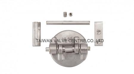 Retainerless type dual check valve
