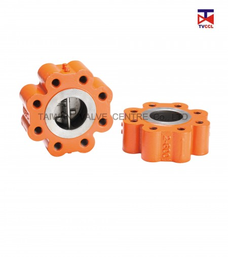 Dual Plate Full Lug Type Check Valve - Dual plate Full Lug type check valve by tapped. This type enables the one-sided lugging of pipes.