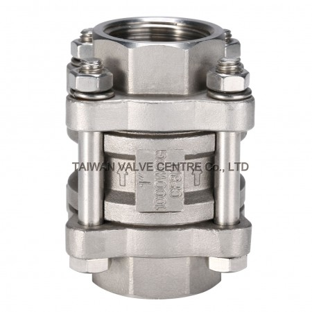 3-Pieces Spring Check Valve - Three Pieces Spring Type Check Valves have Low Pressure Drop