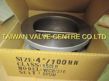 pack dual check valve