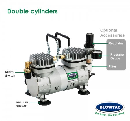Double cylinders Compressor