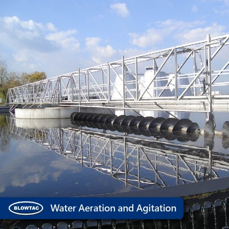 Waste water treatment aeration and agitation (septic tank).