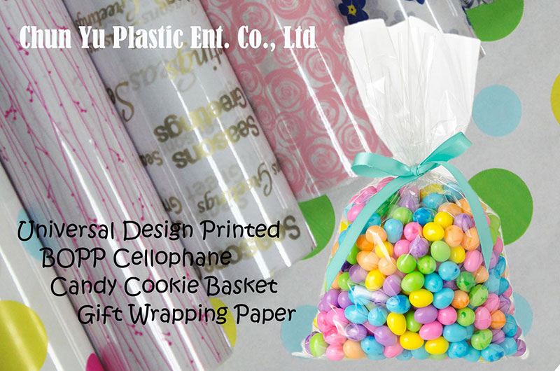 Wrapping paper to decorate and arrange food & gift baskets.