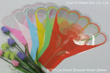 Flower Sleeves with trendy design printed for cut flower bouquets