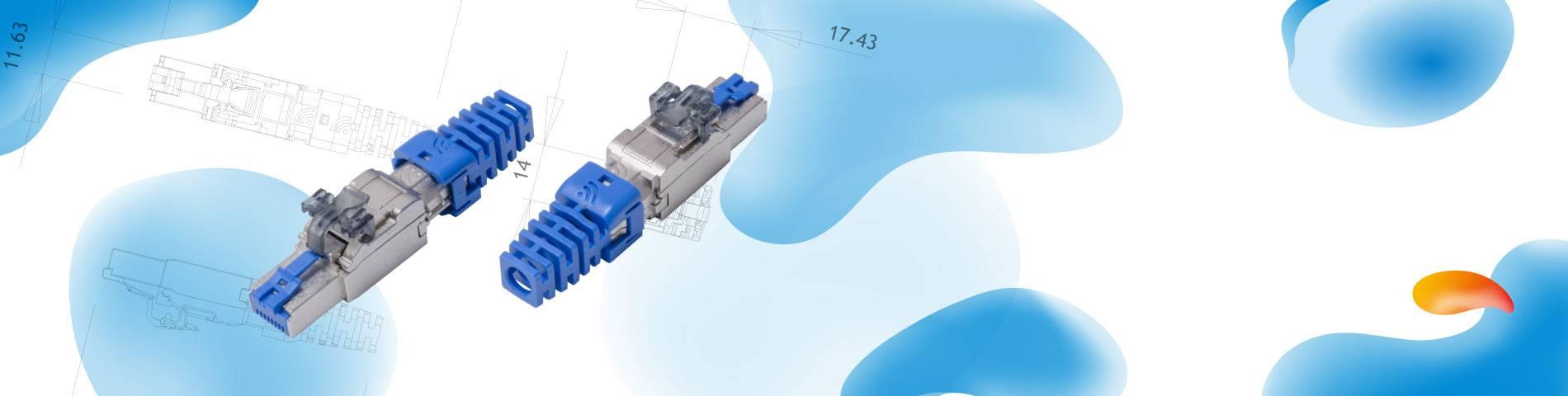 HCI    Enchufe de terminación de campo    ISO / IEC Cat6A PoE +