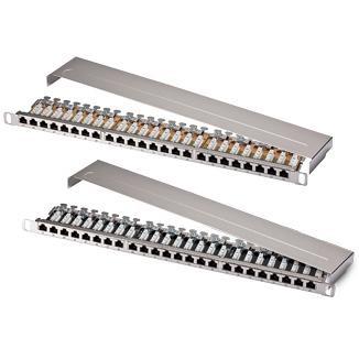 0.5U 24-Port High Desity STP Modular Patch Panel - 0.5U 24-Port High Desity STP Modular Patch Panel