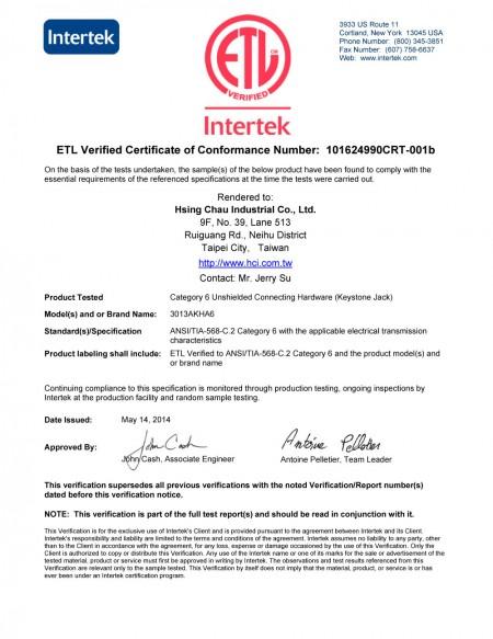 ETL-C6-Unshielded-Connecting-Hardware-Keystone-Jack-3013AKHA6.