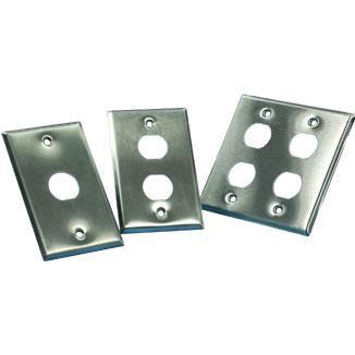 Single Gang Stainless Steel Faceplate - Single Gang Stainless Steel Faceplate