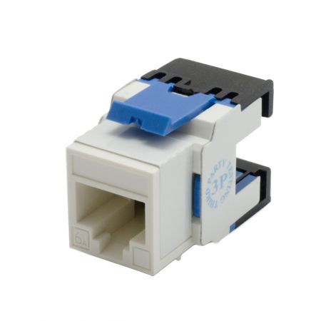 Cat 6A Component Level 180° UTP Punchdown Keystone Jack - Cat6A180° UTP Punchdown Keystone Jack