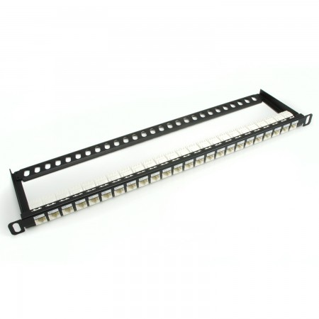 0.5U 24-Port UTP Super High Density Snap-In Type Patch Panel